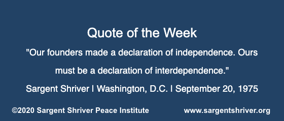 "A ""Declaration of Interdependence"""