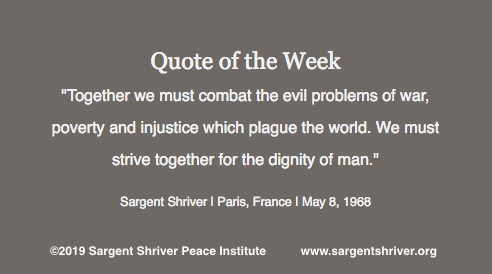 """Strive Together for the Dignity of Man"""