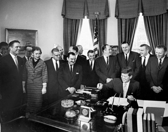 Signing the Executive Order