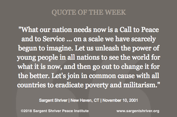 A Call to Peace and Service