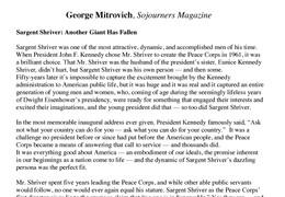 George Mitrovich Letter