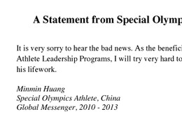Minmin Huang Letter