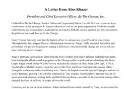 Alan Khazei Letter