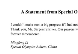 Mingfeng Li Letter