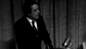 Shriver Speaking at Notre Dame 1974