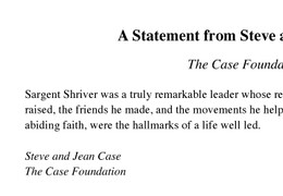 Steve and Jean Case Letter