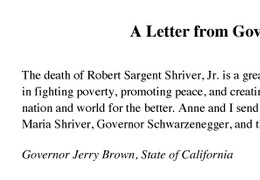 Jerry Brown Letter