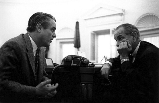 Shriver Meets with LBJ