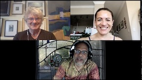 Clockwise, from top left: Jamie Price, Lucy Di Rosa, and Adam
