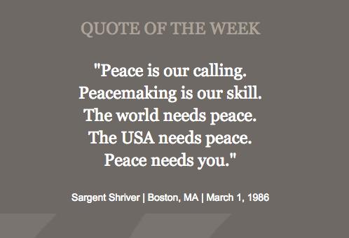 Peace Needs You