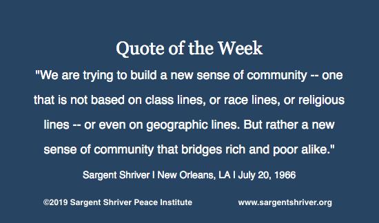 """A New Sense of Community"""