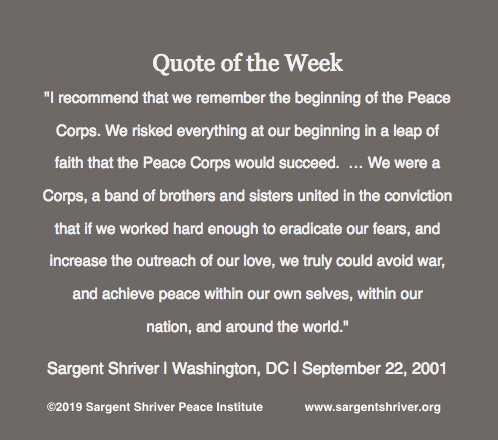 Honoring Two Peace Corps Milestones