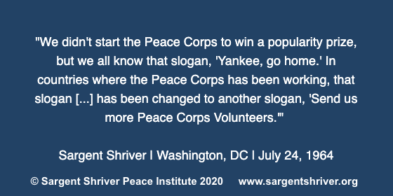 A Poignant Anniversary for the Peace Corps