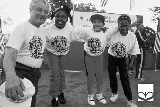 Sargent Shriver Celebrates With Special Olympics Athletes